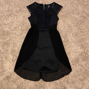 Rue21 Black Mini Dress with Diamond Studded Sleeve